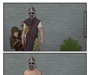 Strażnicy w Skyrim są nieco inni