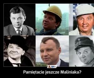 Pamiętacie jeszcze Maliniaka?
