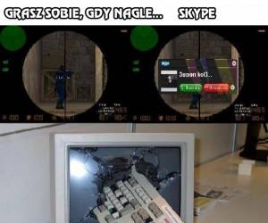 Grasz sobie, gdy nagle... Skype