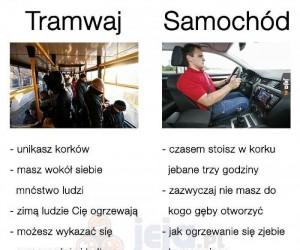 Tramwaj vs samochód