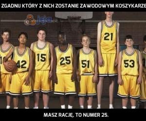 Zgadnij który z nich zostanie zawodowym koszykarzem