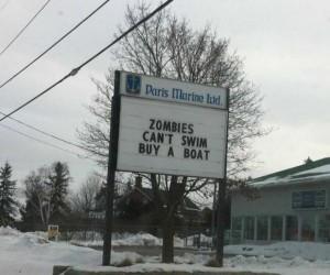 Zombie nie potrafią pływać...