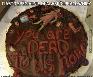 Ciasto specjalnie dla współpracownicy