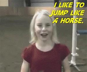 Lubię skakać jak koń