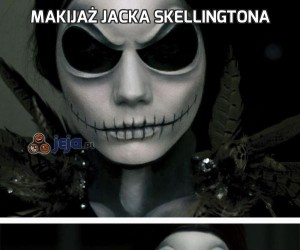 Makijaż Jacka Skellingtona