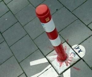 Rysunek na chodniku