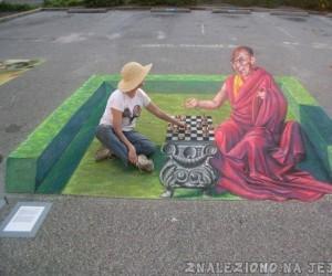 Iluzja na chodniku - Szach i Mat
