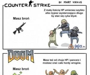 Przydatność uzbrojenia w grach zależy od gry