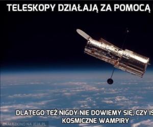 Teleskopy działają za pomocą luster