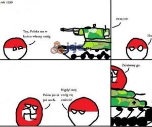 PolandBall i i jego czołg