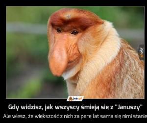 """Gdy widzisz, jak wszyscy śmieją się z """"Januszy"""""""