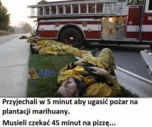 Strażak to ciężka robota