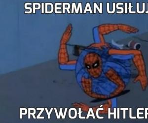 Spiderman usiłuje