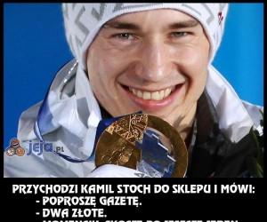 Przychodzi Kamil Stoch do sklepu...