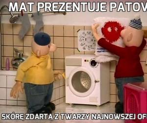 Mat prezentuje Patowi
