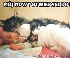 Jedyny powód, dla którego koty tulą dzieci