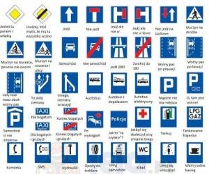 Antyporadnik kierowców - znaki informacyjne