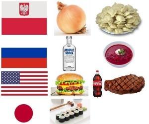 Jedzenie z różnych krajów