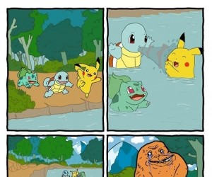 Charmander cannot into water
