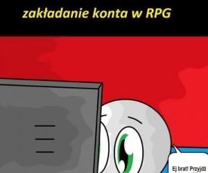 Zakładanie konta w RPG