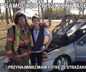 Samochód zniszczony, ale...