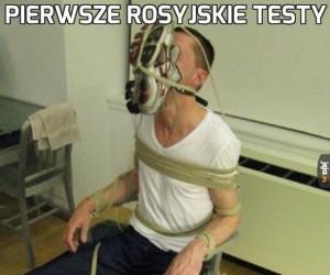 Pierwsze rosyjskie testy