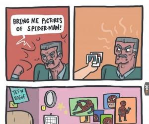 Dawać mi fotki Spider-Mana!