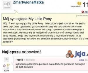 Mój syn ogląda My Little Pony