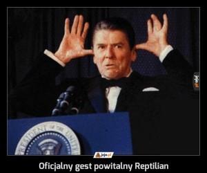 Oficjalny gest powitalny Reptilian