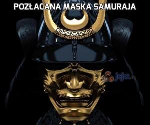 Pozłacana maska samuraja