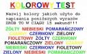 Kolorowy test
