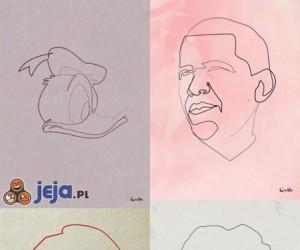 Obrazy wykonane bez odrywania długopisu od kartki