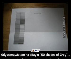 """Gdy zamawiałem na eBay'u """"50 shades of Grey""""..."""