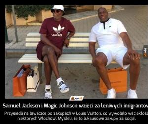 Samuel Jackson i Magic Johnson wzięci za leniwych imigrantów