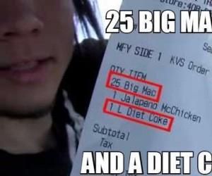 I dietetyczna colę do tego...