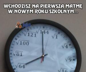 Nawet zegar przeciwko mnie...