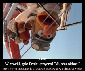 """W chwili, gdy Ernie krzyczał """"Allahu akbar!"""""""