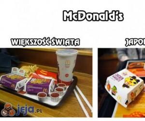 McDonald's - Większość świata vs Japonia