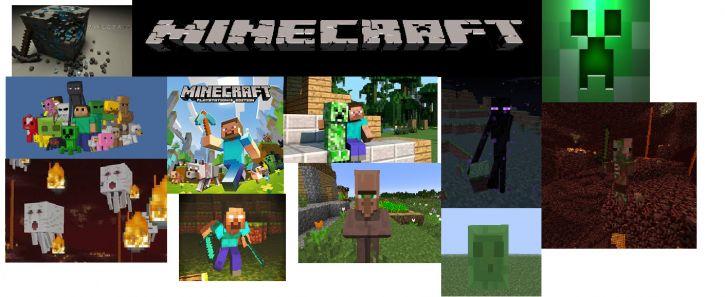 Kolaż z Minecrafta