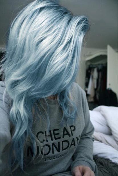 Miętowe włosy