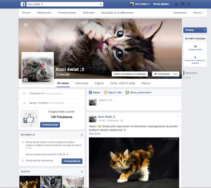 Zapraszam na stronę na FB