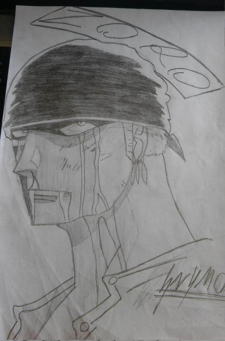 Mój Rysunek: Roronoa Zoro