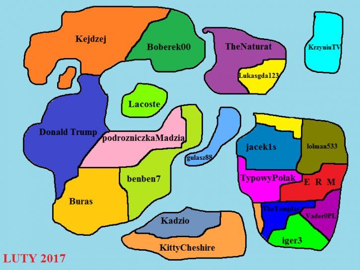 Mapa użytkowników jeja Luty 2017