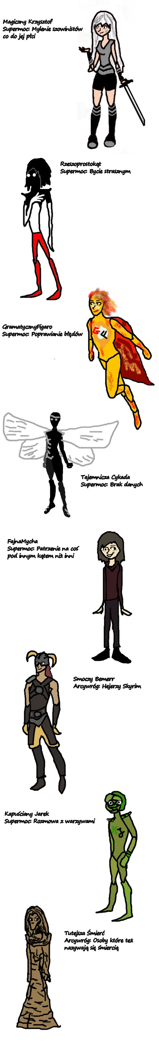 Superbohaterowie/Superłotrowie jeja