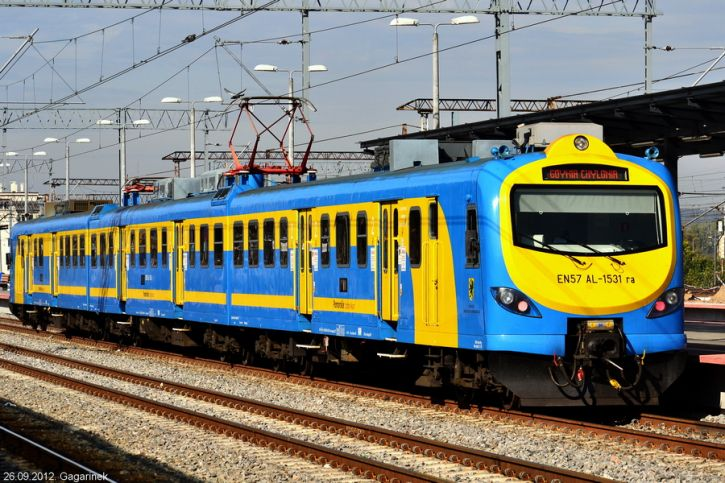 EN57AL-1531 na stacji Gdynia główna