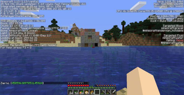 Podwodny domek nad wodą