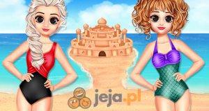 Elsa i Anna na plaży
