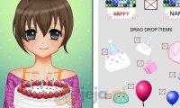 Urodzinowa kartka w stylu anime