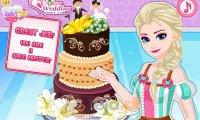 Elsa i tort weselny