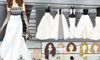 Czarno-białe suknie ślubne